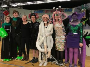 Photo of students in costume.