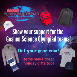 Graphic for the science Olympiad teams' apparel sale