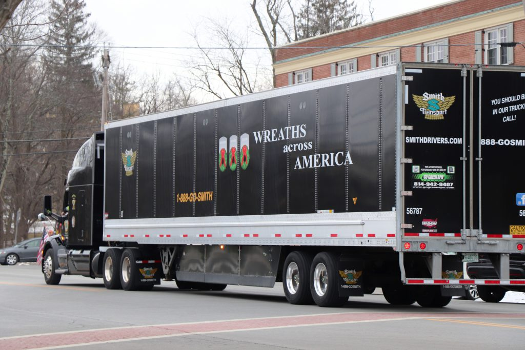 Wreaths Across America truck-trailer
