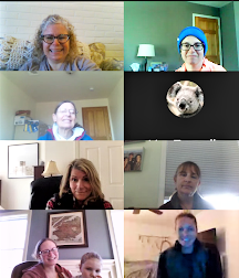 Screen shot of group video call